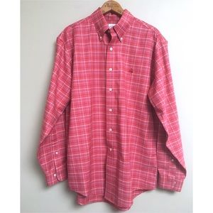 Brooks Brothers Salmon Plaid Button-Down Shirt